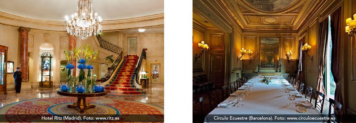 Lugares de reunión en Madrid y Barcelona